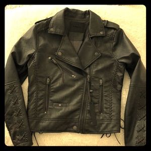 NWT Blank NYC Faux Leather Moto Jacket